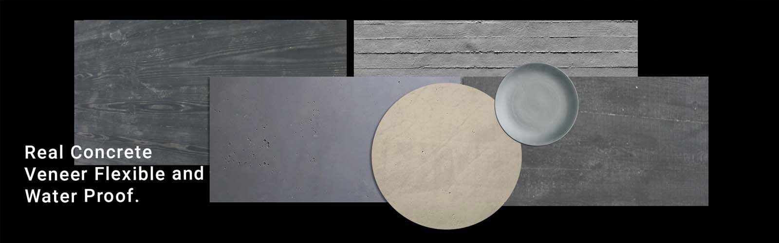 Concrete Veneer - Manufacturer & Exporter by India on waferthinstone.com (Pan Creations India)