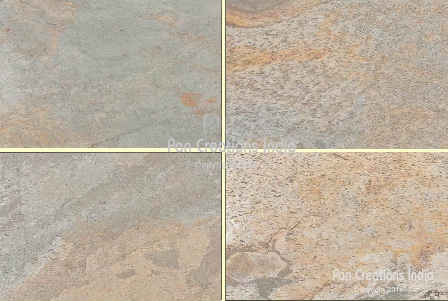 Silver Shine Gold Thin Real Stone Veneer